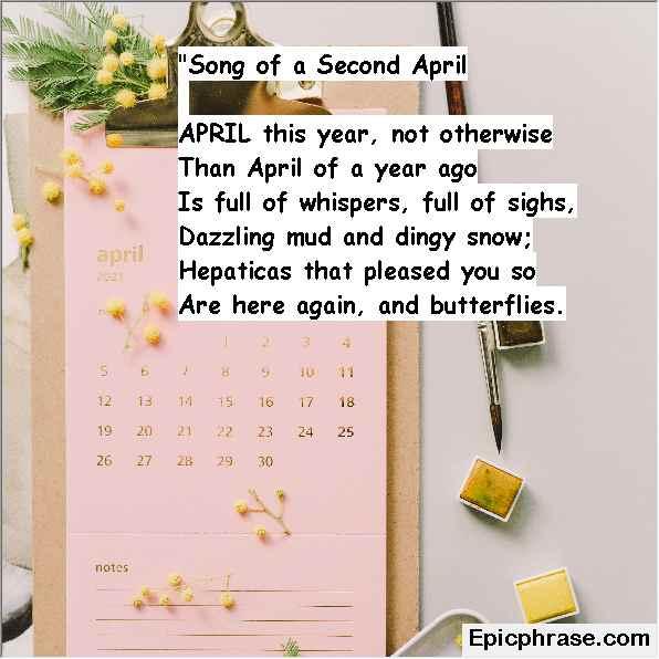 April Inspirational Quotes