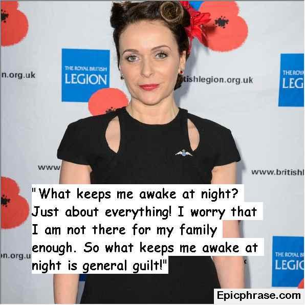 unique Julia Sawalha Quotes on life