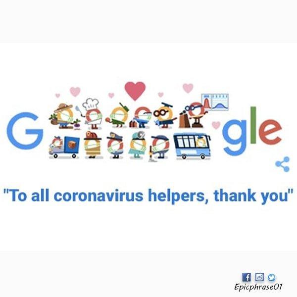 thank you coronavirus helpers doodle