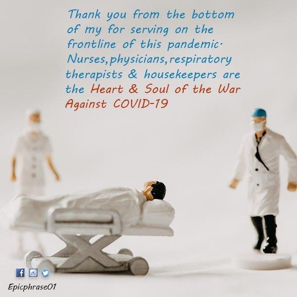 thank you coronavirus helpers quotes