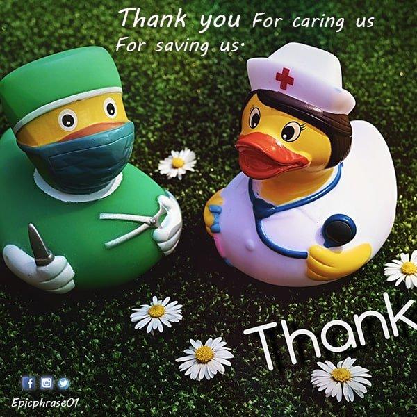 thank you coronavirus helpers sign